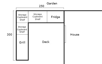 Freestanding outdoor kitchen - drawing
